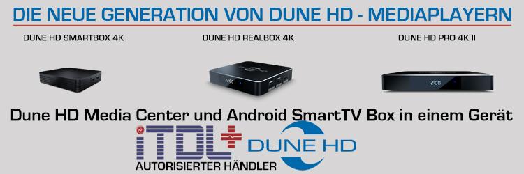Die neue Generation von Dune HD Mediaplayern nur bei iTDL+ Multimedia